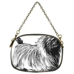 Cairn Terrier Greyscale Art Chain Purses (Two Sides)
