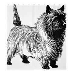 Cairn Terrier Greyscale Art Shower Curtain 66  x 72  (Large)