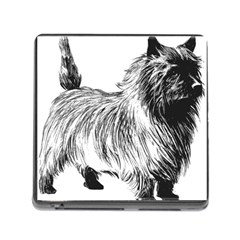 Cairn Terrier Greyscale Art Memory Card Reader (Square)