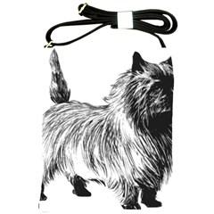 Cairn Terrier Greyscale Art Shoulder Sling Bags
