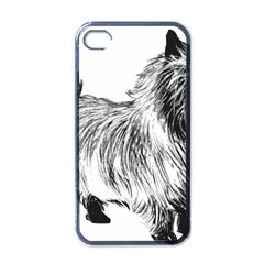 Cairn Terrier Greyscale Art Apple iPhone 4 Case (Black)