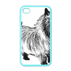Cairn Terrier Greyscale Art Apple iPhone 4 Case (Color)