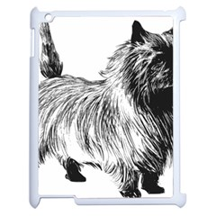 Cairn Terrier Greyscale Art Apple iPad 2 Case (White)
