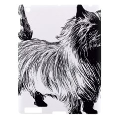 Cairn Terrier Greyscale Art Apple iPad 3/4 Hardshell Case