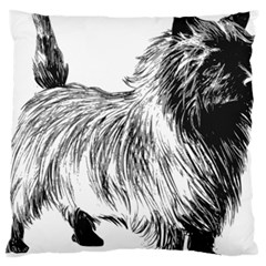 Cairn Terrier Greyscale Art Large Cushion Case (One Side)