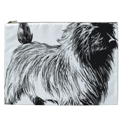 Cairn Terrier Greyscale Art Cosmetic Bag (XXL)