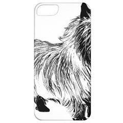 Cairn Terrier Greyscale Art Apple iPhone 5 Classic Hardshell Case