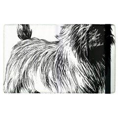Cairn Terrier Greyscale Art Apple iPad 3/4 Flip Case