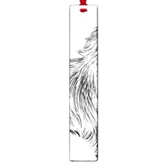 Cairn Terrier Greyscale Art Large Book Marks