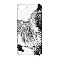 Cairn Terrier Greyscale Art Apple iPod Touch 5 Hardshell Case with Stand