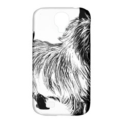 Cairn Terrier Greyscale Art Samsung Galaxy S4 Classic Hardshell Case (PC+Silicone)