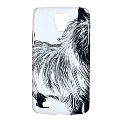 Cairn Terrier Greyscale Art Galaxy S4 Active