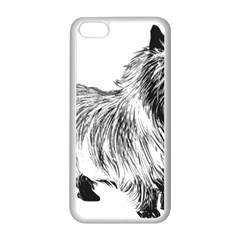 Cairn Terrier Greyscale Art Apple iPhone 5C Seamless Case (White)