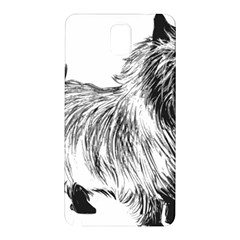 Cairn Terrier Greyscale Art Samsung Galaxy Note 3 N9005 Hardshell Back Case