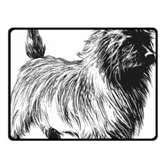 Cairn Terrier Greyscale Art Double Sided Fleece Blanket (Small)