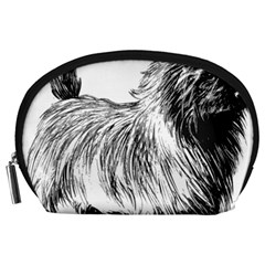 Cairn Terrier Greyscale Art Accessory Pouches (Large)