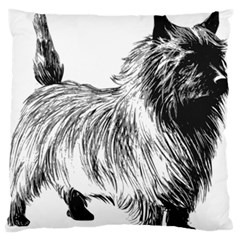 Cairn Terrier Greyscale Art Standard Flano Cushion Case (Two Sides)
