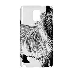 Cairn Terrier Greyscale Art Samsung Galaxy Note 4 Hardshell Case