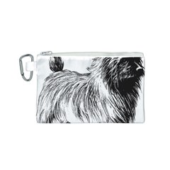 Cairn Terrier Greyscale Art Canvas Cosmetic Bag (S)