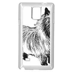 Cairn Terrier Greyscale Art Samsung Galaxy Note 4 Case (White)