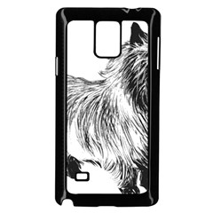 Cairn Terrier Greyscale Art Samsung Galaxy Note 4 Case (Black)