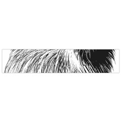 Cairn Terrier Greyscale Art Flano Scarf (Small)