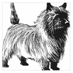 Cairn Terrier Greyscale Art Large Satin Scarf (Square)