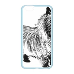 Cairn Terrier Greyscale Art Apple Seamless iPhone 6/6S Case (Color)