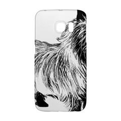 Cairn Terrier Greyscale Art Galaxy S6 Edge