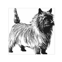 Cairn Terrier Greyscale Art Small Satin Scarf (Square)