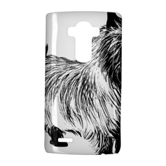 Cairn Terrier Greyscale Art LG G4 Hardshell Case