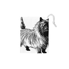Cairn Terrier Greyscale Art Drawstring Pouches (XS)