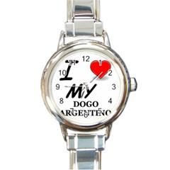 Dogo Love Round Italian Charm Watch