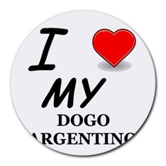 Dogo Love Round Mousepads