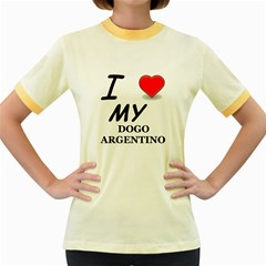 Dogo Love Women s Fitted Ringer T-Shirts