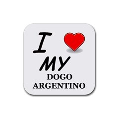Dogo Love Rubber Square Coaster (4 pack)