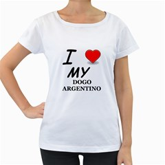 Dogo Love Women s Loose-Fit T-Shirt (White)