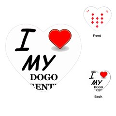 Dogo Love Playing Cards (Heart)