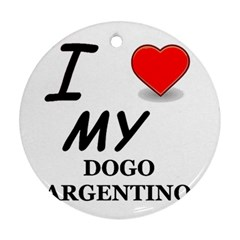 Dogo Love Round Ornament (Two Sides)