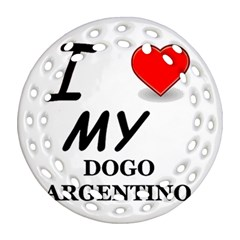 Dogo Love Round Filigree Ornament (Two Sides)