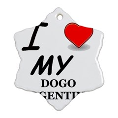 Dogo Love Snowflake Ornament (Two Sides)