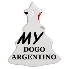 Dogo Love Christmas Tree Ornament (Two Sides)