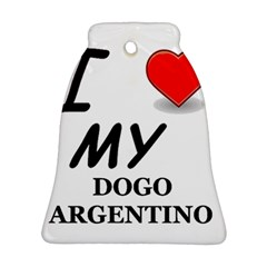 Dogo Love Bell Ornament (Two Sides)
