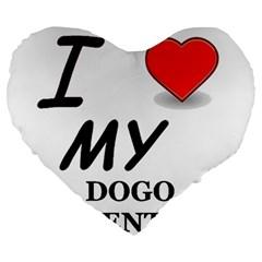 Dogo Love Large 19  Premium Heart Shape Cushions