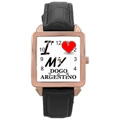 Dogo Love Rose Gold Leather Watch