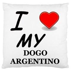 Dogo Love Large Flano Cushion Case (One Side)