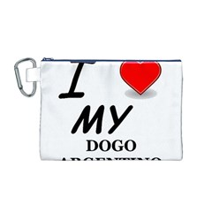 Dogo Love Canvas Cosmetic Bag (M)