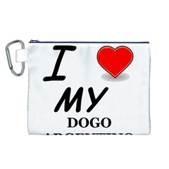 Dogo Love Canvas Cosmetic Bag (L)