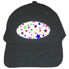 Stars Pattern Background Colorful Red Blue Pink Black Cap