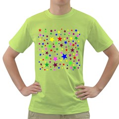 Stars Pattern Background Colorful Red Blue Pink Green T-Shirt